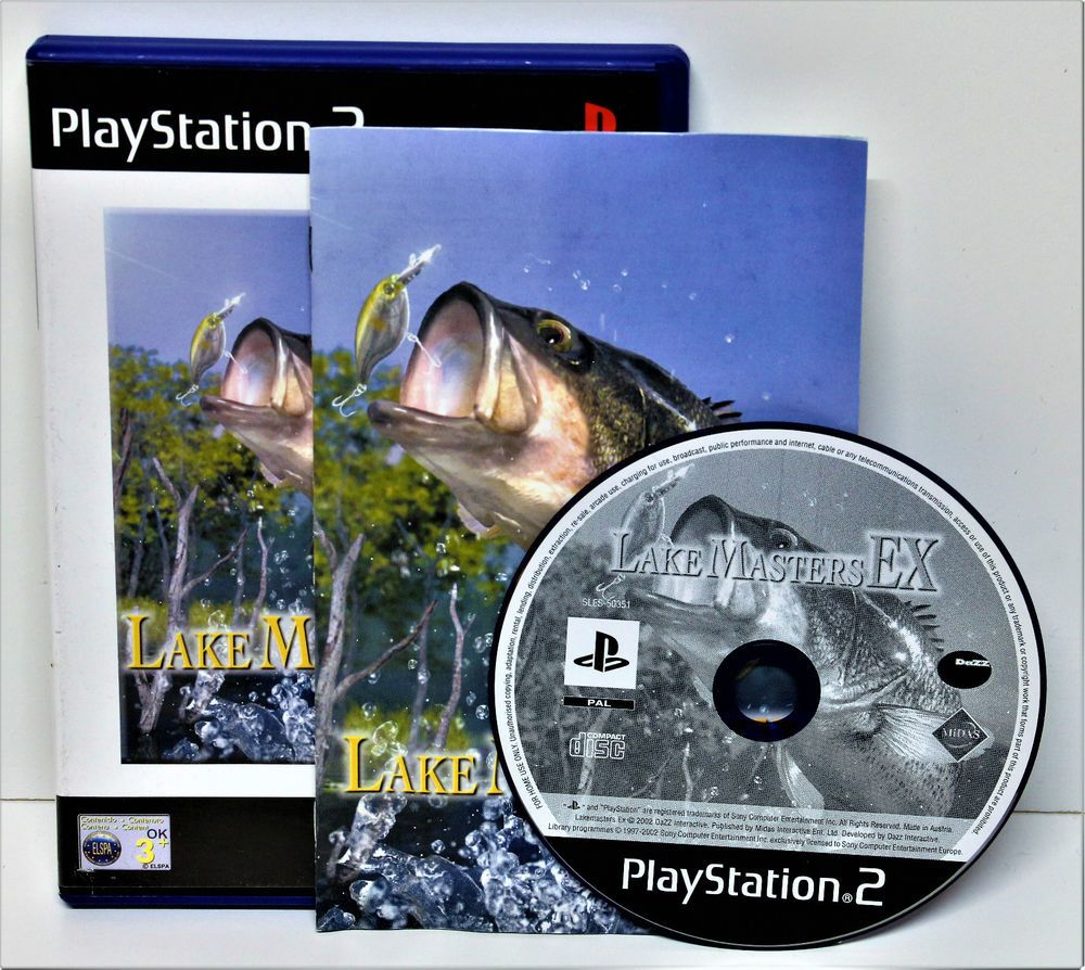 PLAYSTION 2 LAKE MASTERS EX FISHING GAME VIDEO VGC  PS1 PS2 PS3