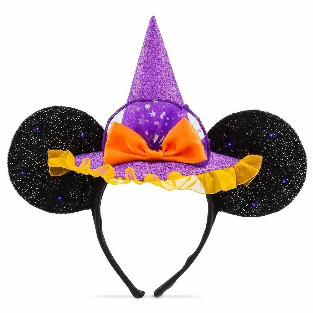 Disney Parks Minnie Mouse Witch Ear Headband For Adults Disney Halloween Mouse Ears Headband Halloween Headband