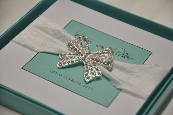 Luxury Handmade Tiffany Blue and White Boxed by BlackTieOccasion, $11.00