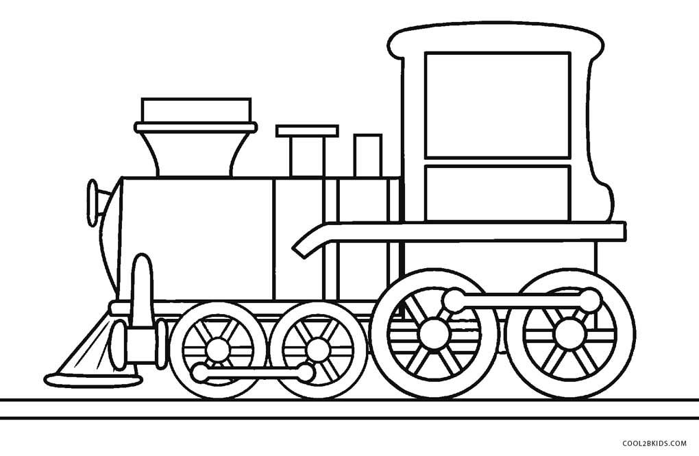 Desenhos De Trem Para Colorir