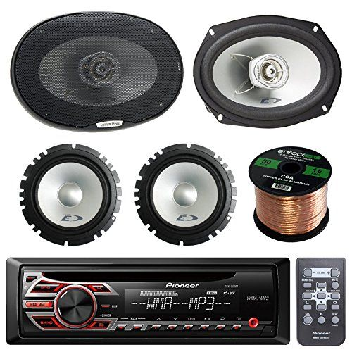 Pioneer Deh150mp Single Din Car Stereo Bundle Alpine Sx Car Speakers Car Stereo Pioneer Car Stereo
