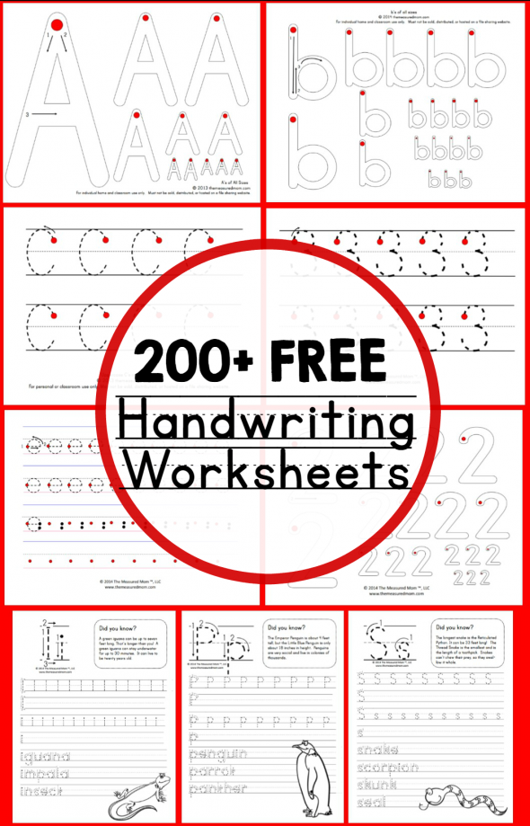 Printable Worksheets worksheets free : Teaching Handwriting | Free handwriting worksheets, Handwriting ...