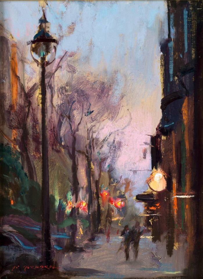 Daniel Gerhartz's Urban painting, Romantic paintings