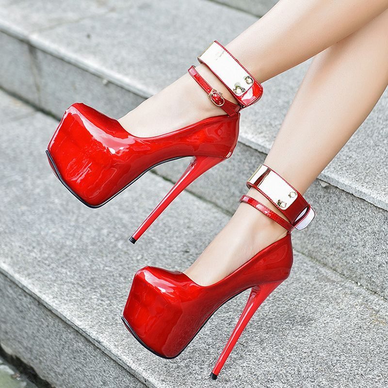 2627bf7958 Material:PU|Heel Height:16.5cm|Embellishment:Sequin,Platform | Shoes ...