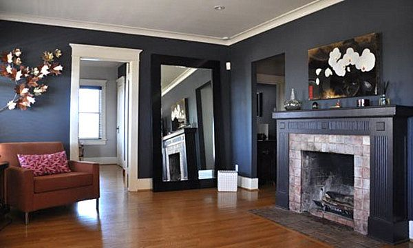 Inspirational Craftsman Homes Interior Ideas: Amazing Minimalist Family Room  With Fireplace Craftsman Style Homes Decor