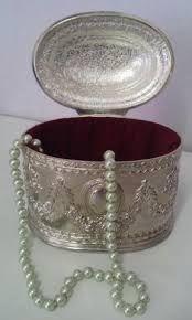 Resultado de imagem para porta joias antigos de prata