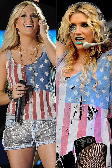 Trend Spotting American Flag Shirts Carrie Underwood Rocks An American Flag Tank During The 2012 Cm American Flag Top Cma Music Festival American Flag Tank