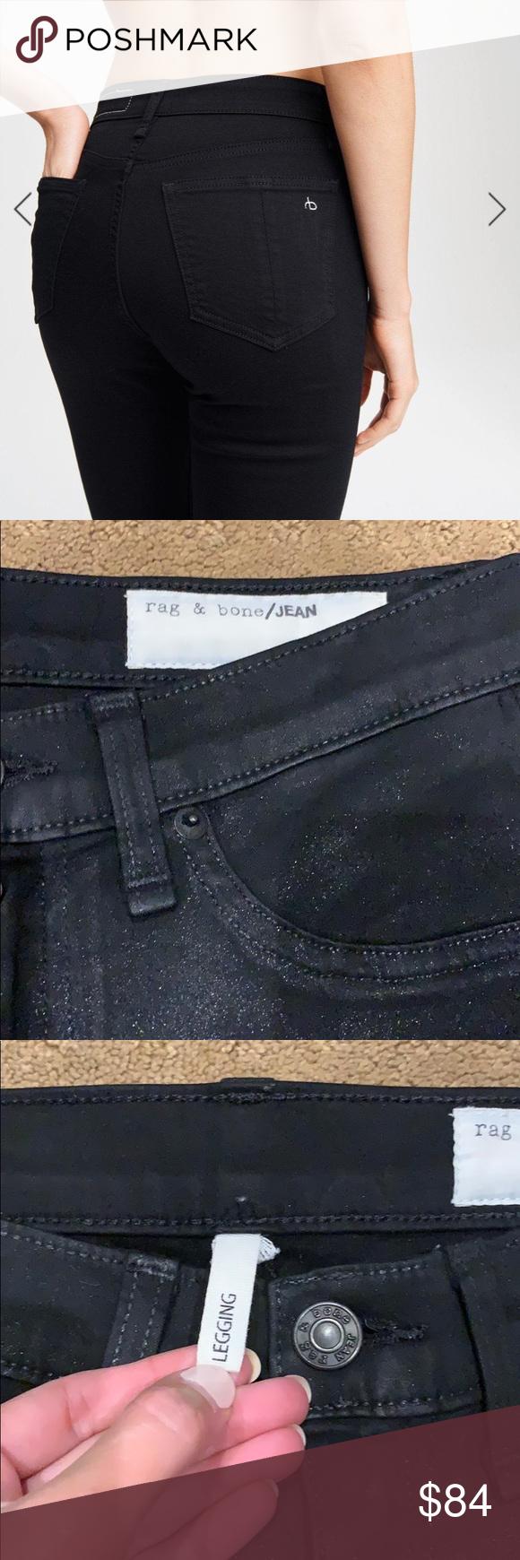 Rag & Bone Coated Black Jeans Black Rag and Bone legging ...