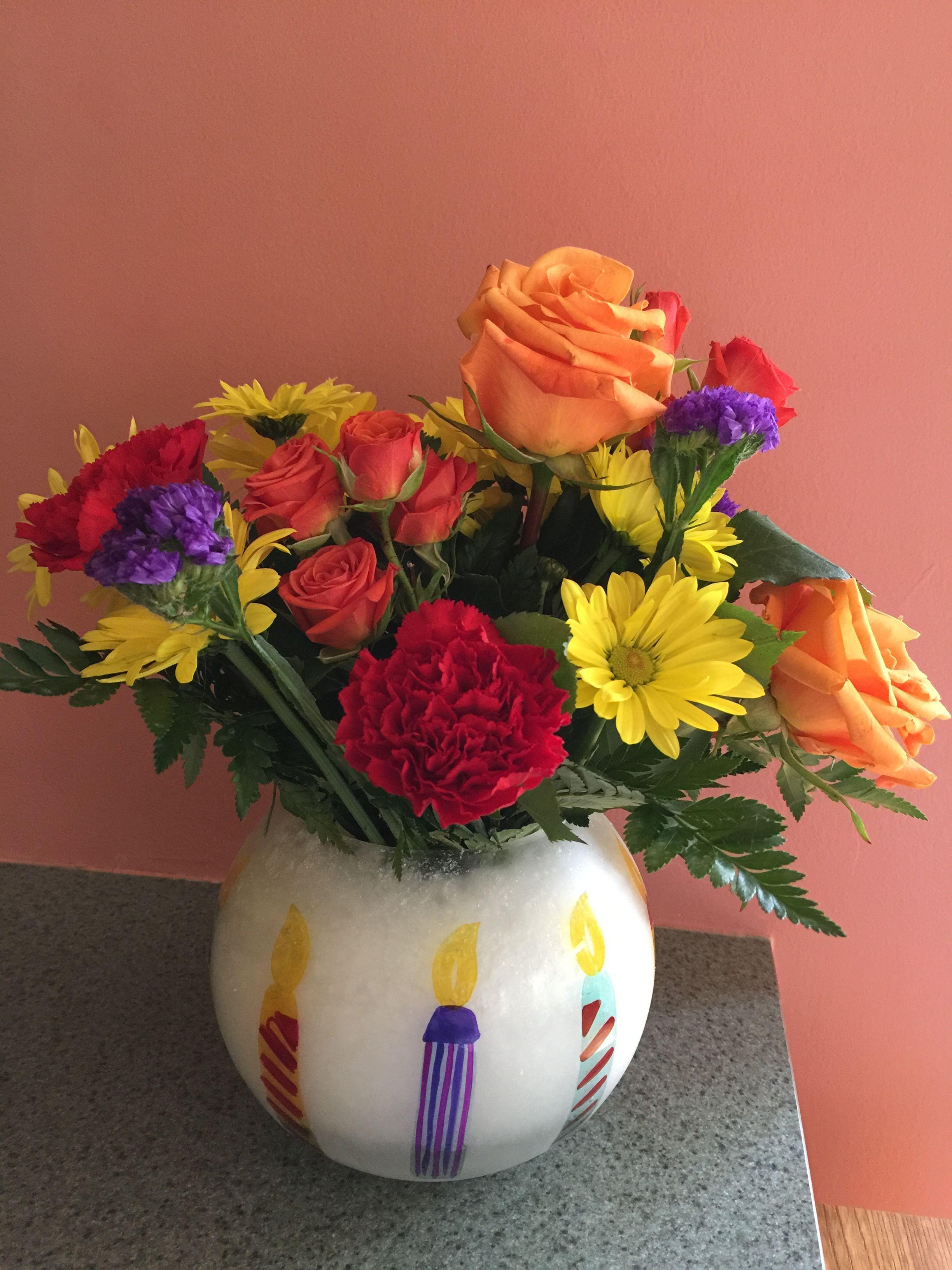 My Birthday Flowers From My Great Friend Jamie 5 18 17