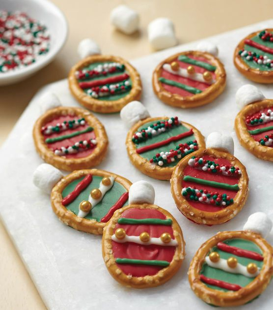 Easy Christmas Ornament Pretzel Treats May Your Days Be Merry