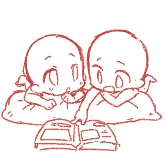 Drawing] Pose Reference Chibi, Draw the squad | Art Tutorials and ...