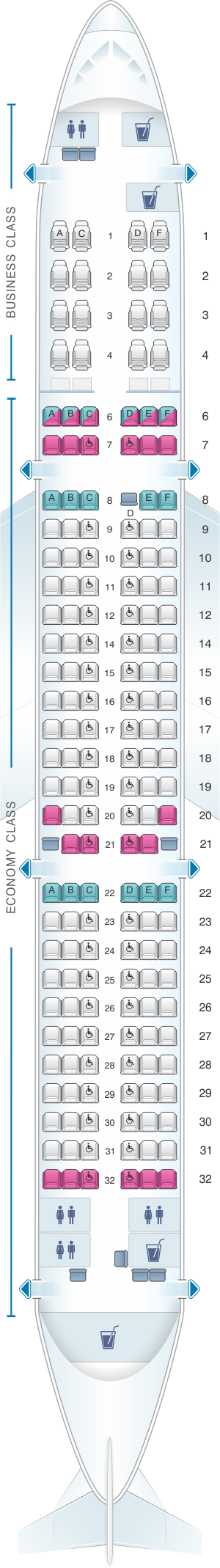 Seat Map SriLankan Airlines Airbus A321 231 SriLankan Airlines - Us Airways A321 Seat Map