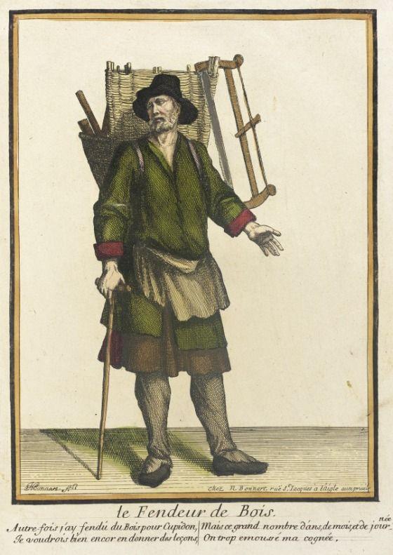 Recueil Des Modes De La Cour De France Le Fendeur De Bois Lacma Collections Historical Artifacts 17th Century Clothing Middle Ages Clothing