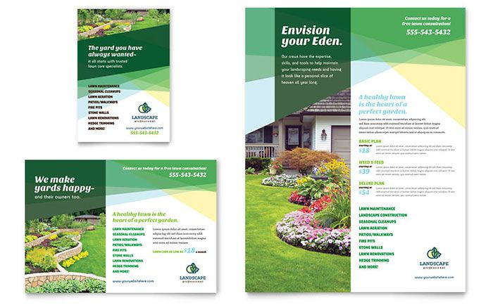 Landscaper Flyer and Ad Template Design by StockLayouts Graphic - free flyer templates word