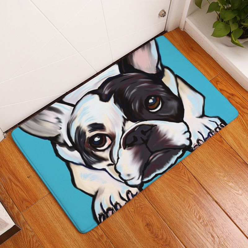 Like Our Other Quality Carpets We Feature The Lovable French Bulldog But In Addition We Also Have A Labradoodle Eng Dog Flooring Dog Door Mat Printed Carpet