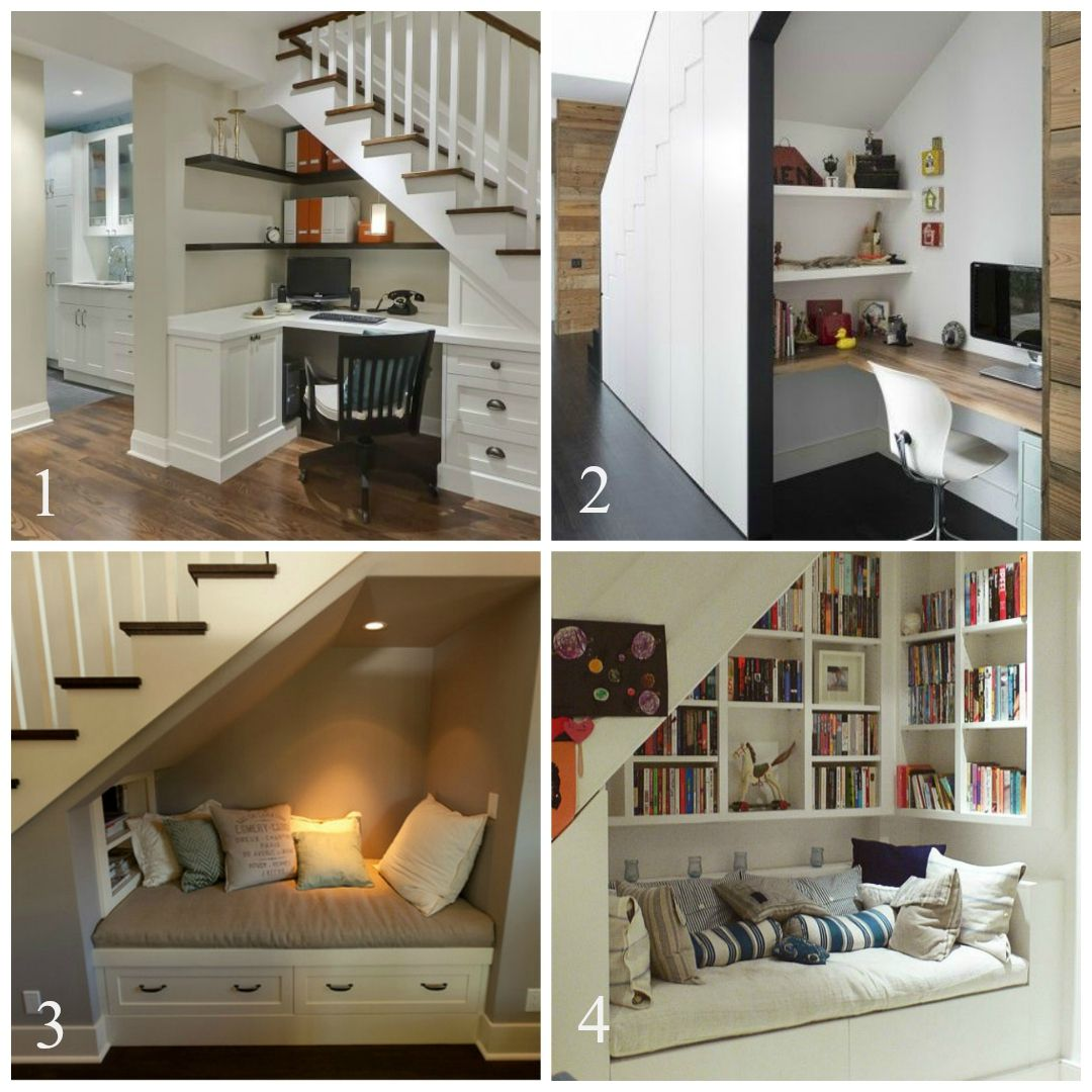 Under stairs home office or reading nook
