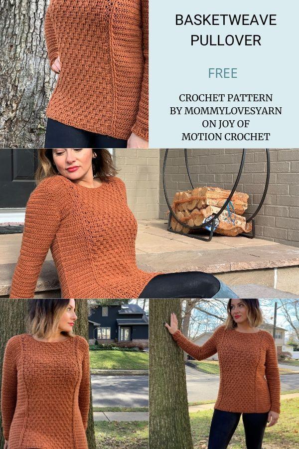 Basketweave Pullover - FREE Crochet Pattern