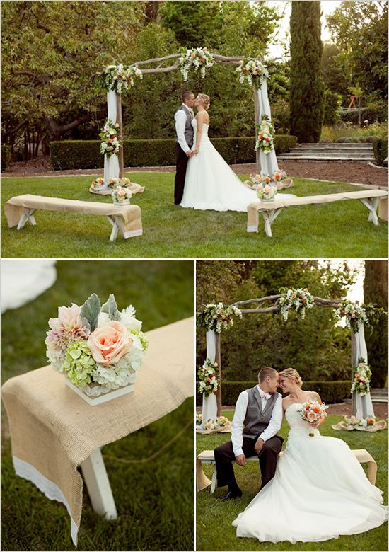 Burlap And Lace Wedding Ideas Wedding Ceremony Small Wedding Wedding