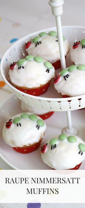 Kleine Raupe Nimmersatt Muffins: Ein Kindergeburtstagsrezept #geburtstagskuchenkinder