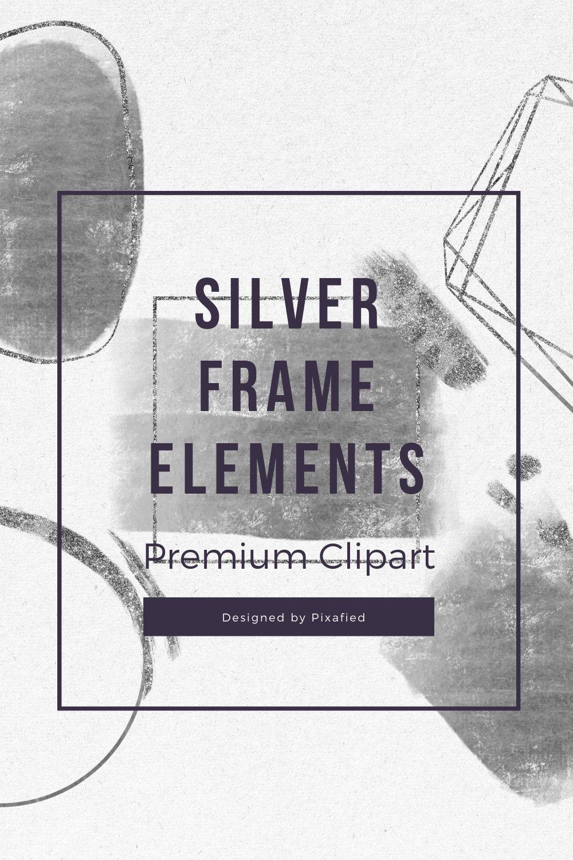 Silver And Glitter Frames Silver Glitter Foil Frames Silver Brushstroke Clipart Geo Frame Wedding Invitation Thin Frame Png Clip Art Glitter Frame Wedding Frames