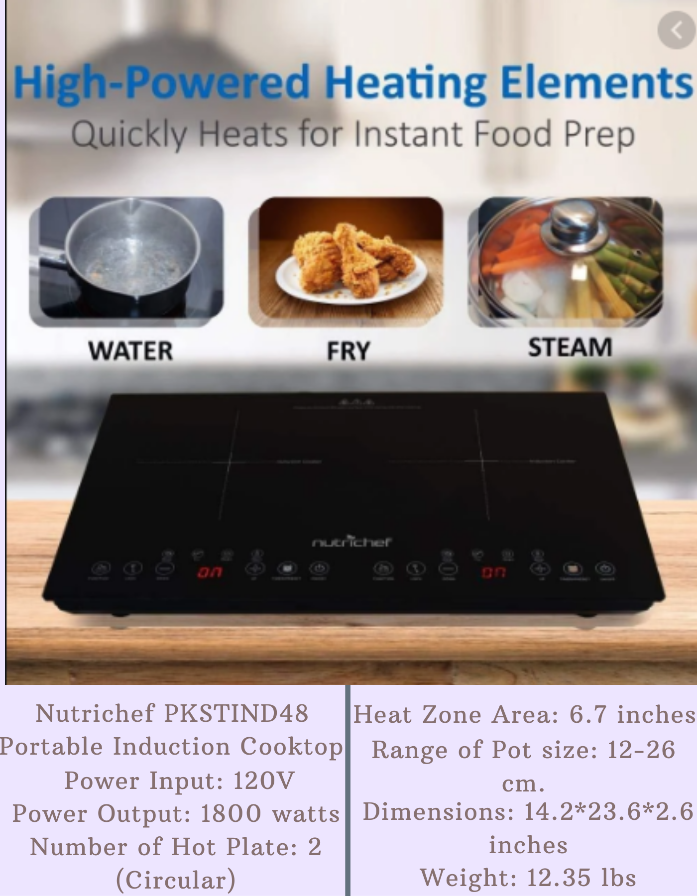 Nutrichef Pkstind48 Portable Induction Cooktop In 2020 Induction Cooktop Electric Stove Cooktop