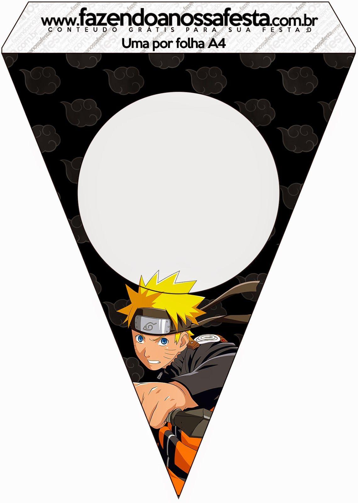 78acb4efc Naruto: Imprimibles Gratis para Fiestas. Hacer Servilleteros, Decoración De  Fiestas Infantiles, Imprimir