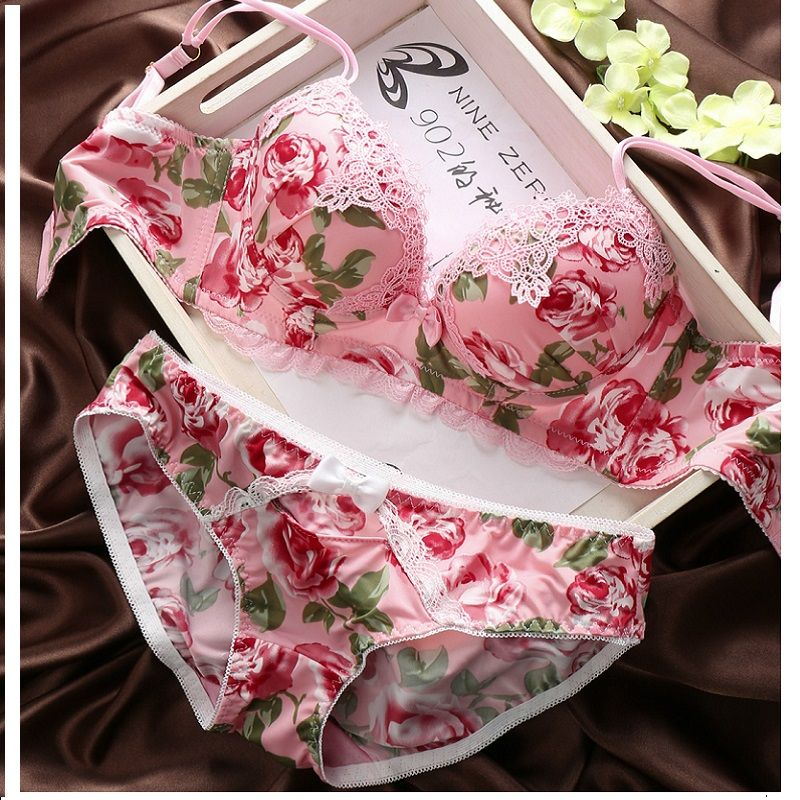 e5741298b7e Find More Bra   Brief Sets Information about Sexy Brand 2016 Rose Fashion  Collection Lace Cotton Women Bra Sets French Romantic Lady Bra Brief Bets  Thong ...