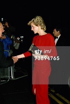 November 21, 1985: Princess Diana attending a ball for the charity Birthright at the Albert Hall. (Photo by Jayne Fincher/Getty Images)