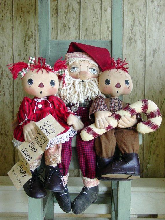 CF268 On Santa\'s Knee PDF EPattern 3 Cloth by catandthefiddle, $9.00 ...