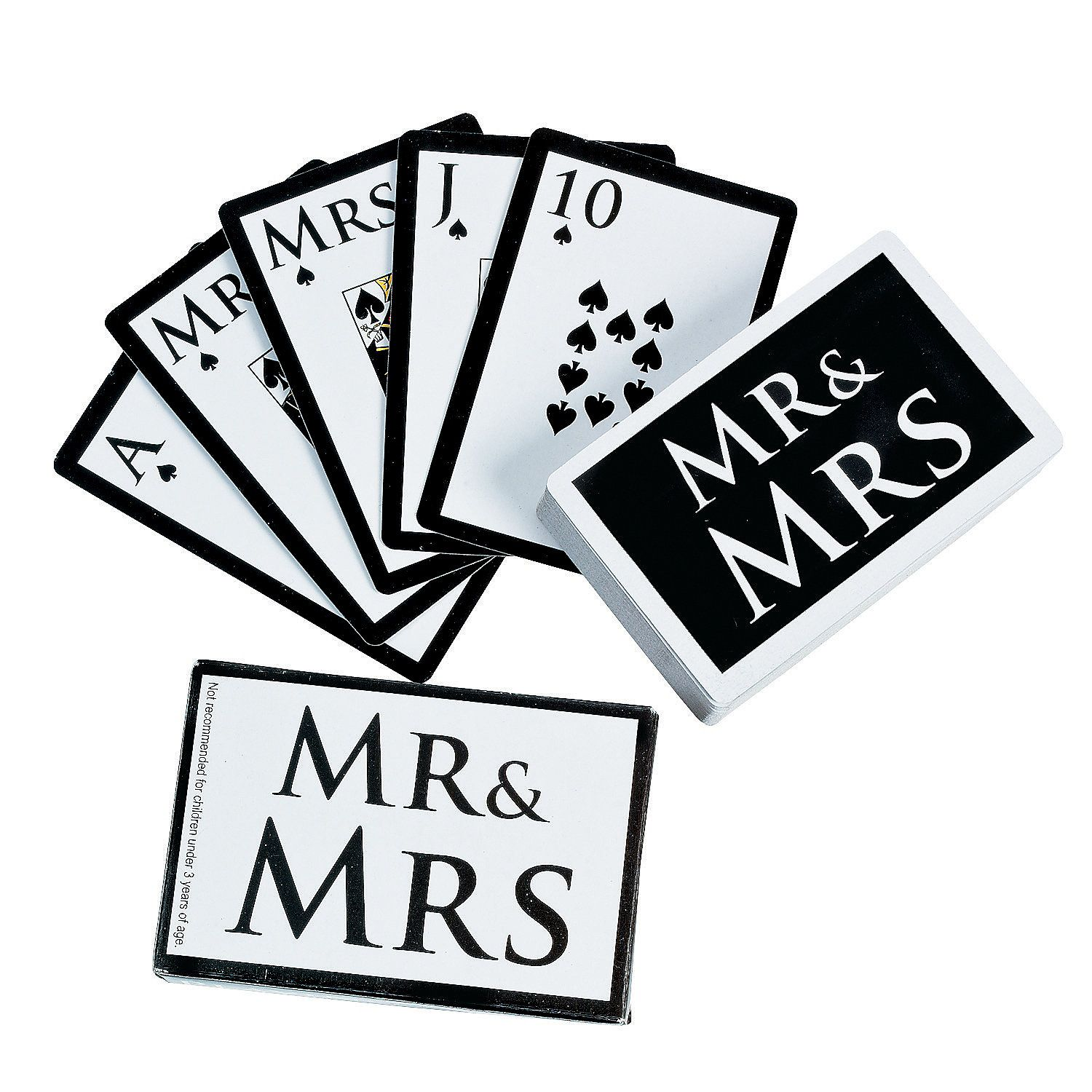 """Mr. & Mrs."""" Wedding Playing Cards - OrientalTrading.com Love thise ..."""