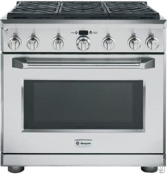 Monogram 36 Freestanding Natural Gas Range Stainless Steel