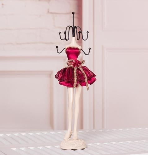 Gorgeous Mannequin Jewellery Display Holder Stand Velvet Jewelry Necklace Rack Exhibidor De Joyeria Cosas Para Munecas Manualidades