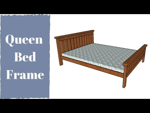 Pin by Jerilynn Hillock on DIY Queen size bed frame diy