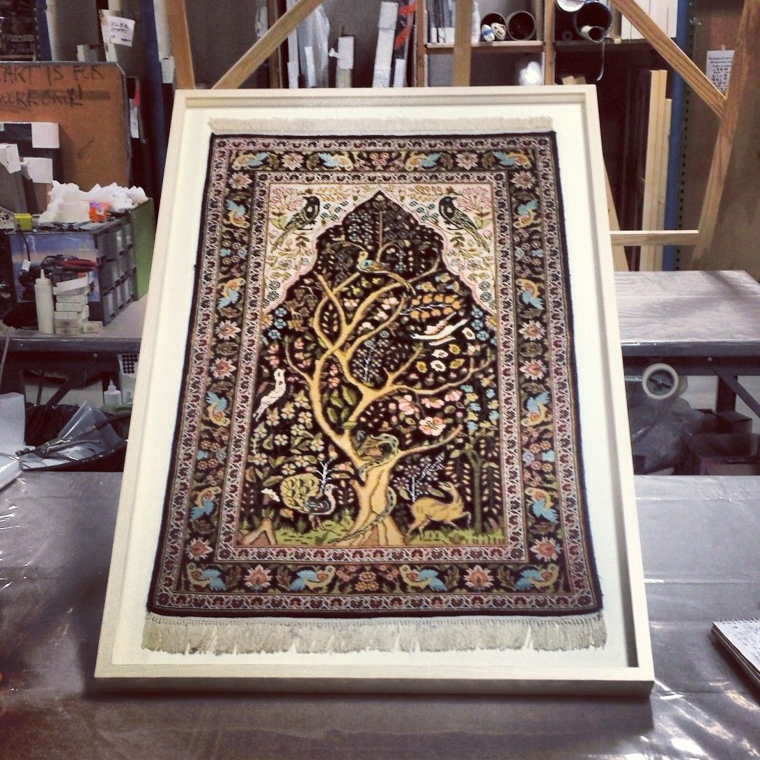 We loved framing this unique, antique tapestry in a whitewash ash ...