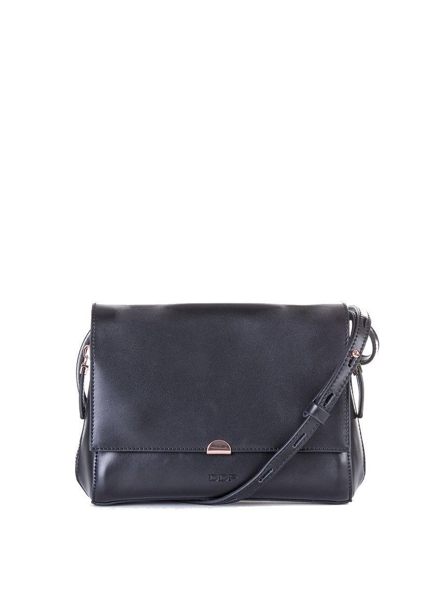 #AdoreWe #StyleWe DDP Black Solid Calfskin Leather Zipper Crossbody Bag - AdoreWe.com