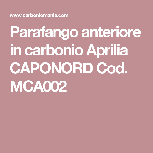 Parafango anteriore in carbonio Aprilia CAPONORD Cod. MCA002