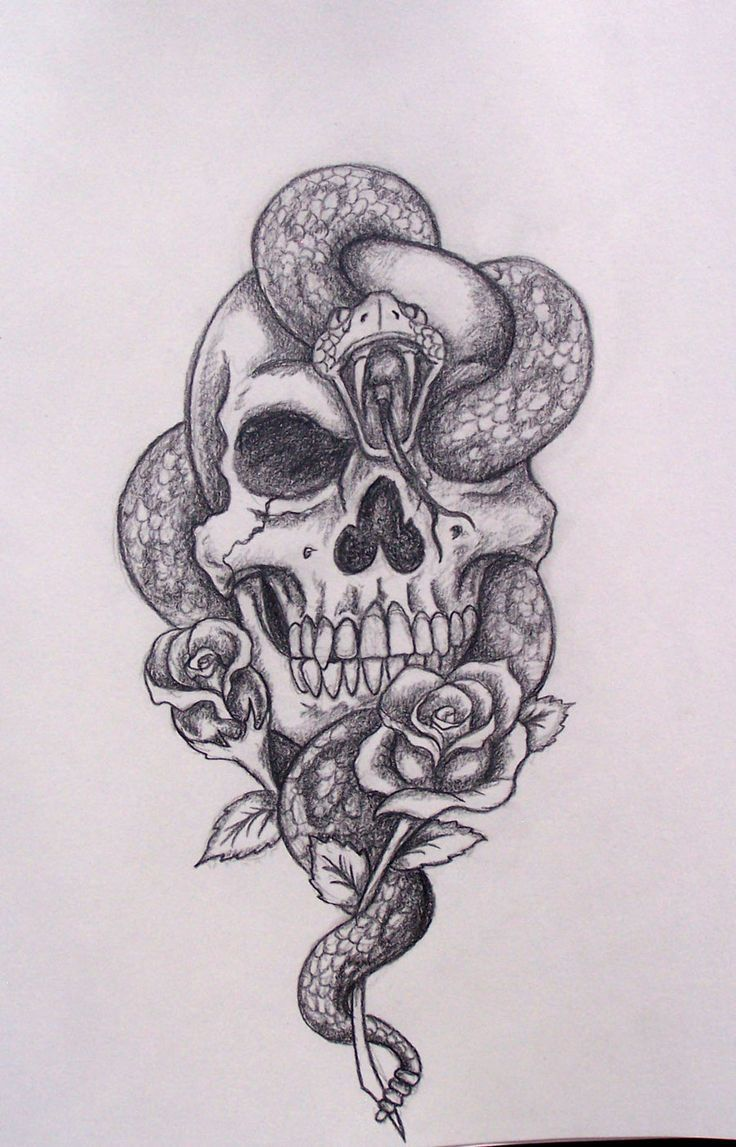 Top 55 best skull tattoos designs and ideas pinterest calaveras how to draw a realistic snake google search altavistaventures Images