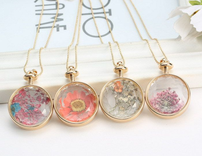 Memorial flower petal jewelry teardrop pendant dried flowers glass real dried flowers round glass current bottle necklace pressed flower jewellery in jewelry watches fashion jewelry necklaces pendants aloadofball Images