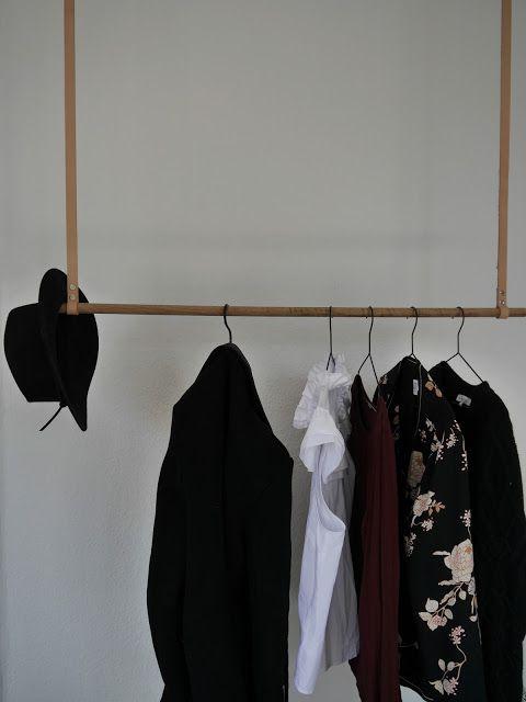 Diy For Home Hängende Garderobe Mit Lederriemen Hanging