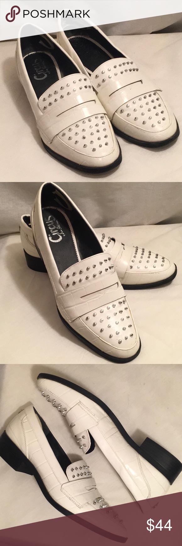 a503ce706c9bb7 10 LALI SAM EDELMAN CIRCUS White Studded Loafers Size 10 Women s White  Studded SAM EDELMAN CIRCUS