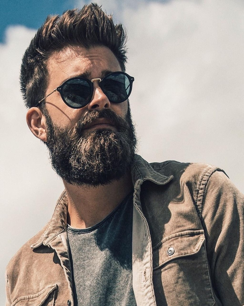 Mens haircuts with beards beards carefully curated  photo  barba men  pinterest  man style
