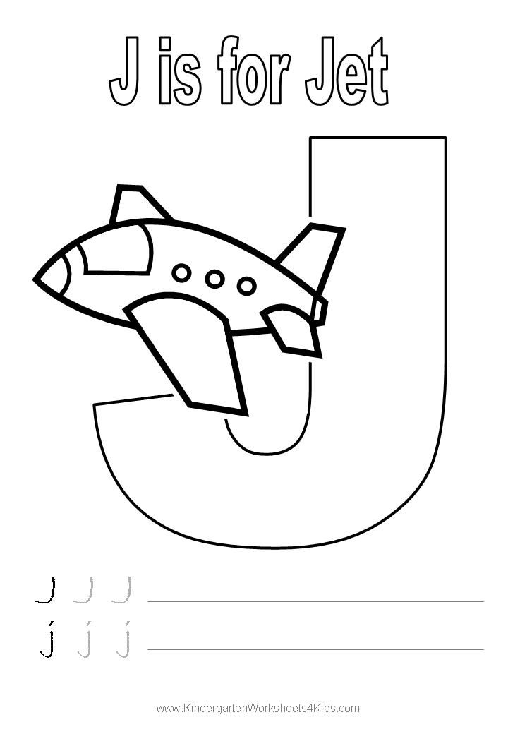 Letter J Worksheets For Pre K | Letter J Handwriting Worksheet