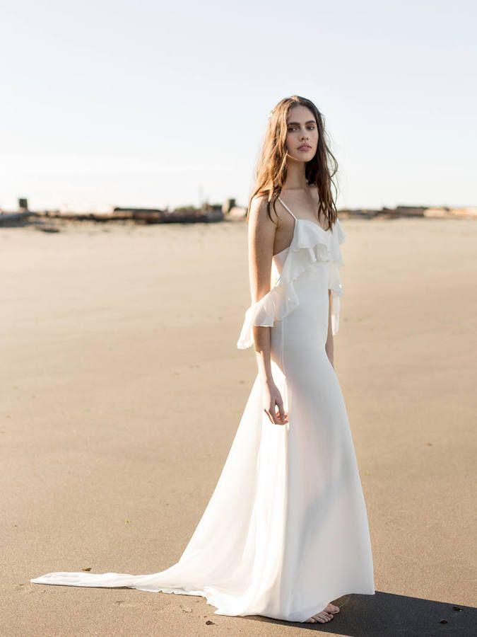 Etsy Boho Silk Bridal Gown | Ivory Off-the-Shoulder Wedding Dress ...