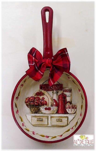 Rosabel manualidades sartenes decoradas para la cocina - Rosabel manualidades ...