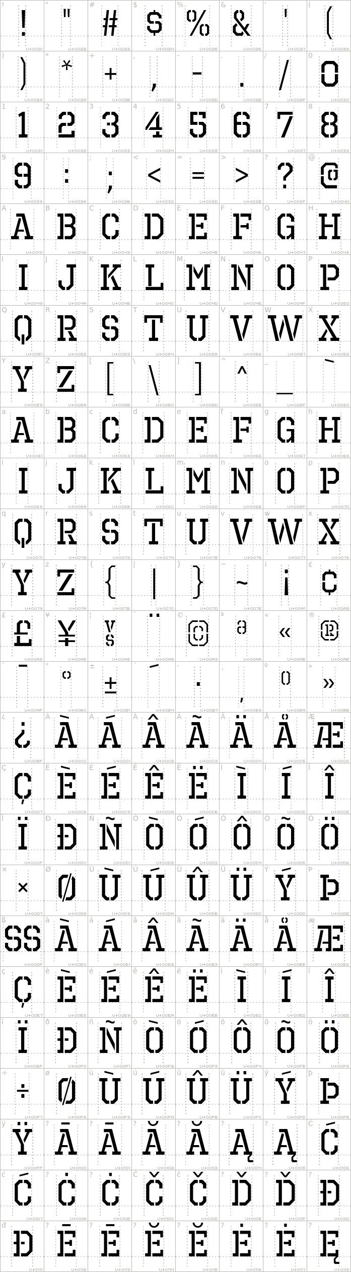 Octin Prison Font · 1001 Fonts   Stencil Fonts   Stencil