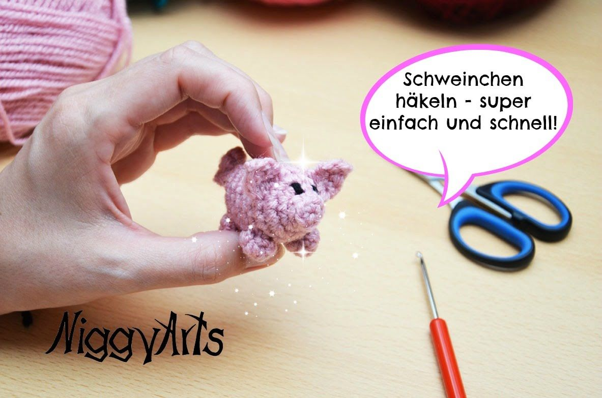 NiggyArts - Niedliches Schweinchen häkeln super einfach und schnell ...