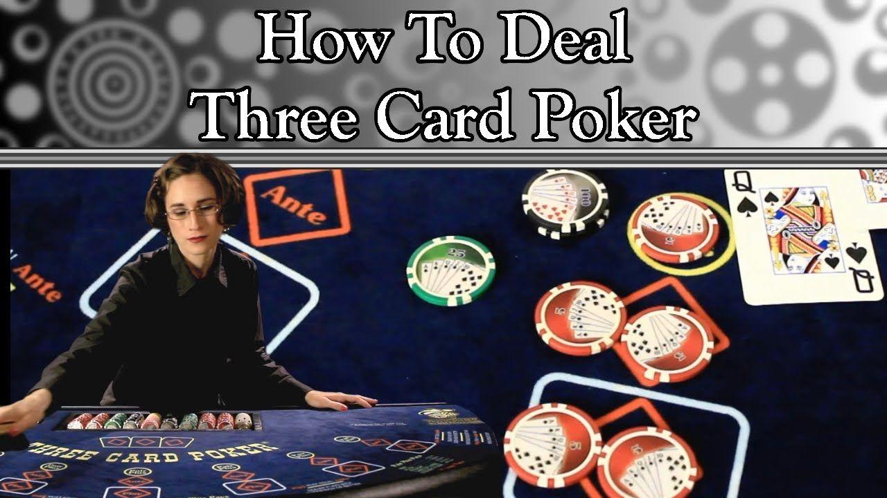 How to deal three card poker full video poker casino