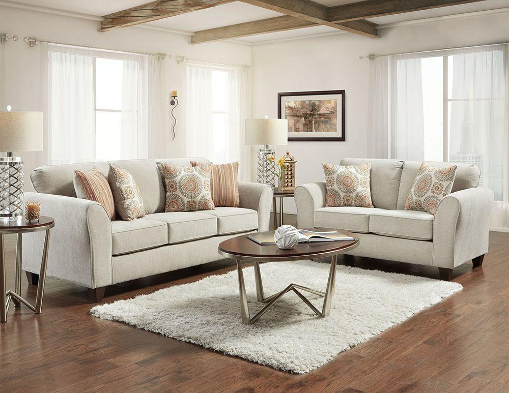 Affordable Furniture Bennington Taupe Sofa & Loveseat Set | Savvy Discount Furniture | Living Room Sets, Taupe Living Room, Living Room Decor Modern