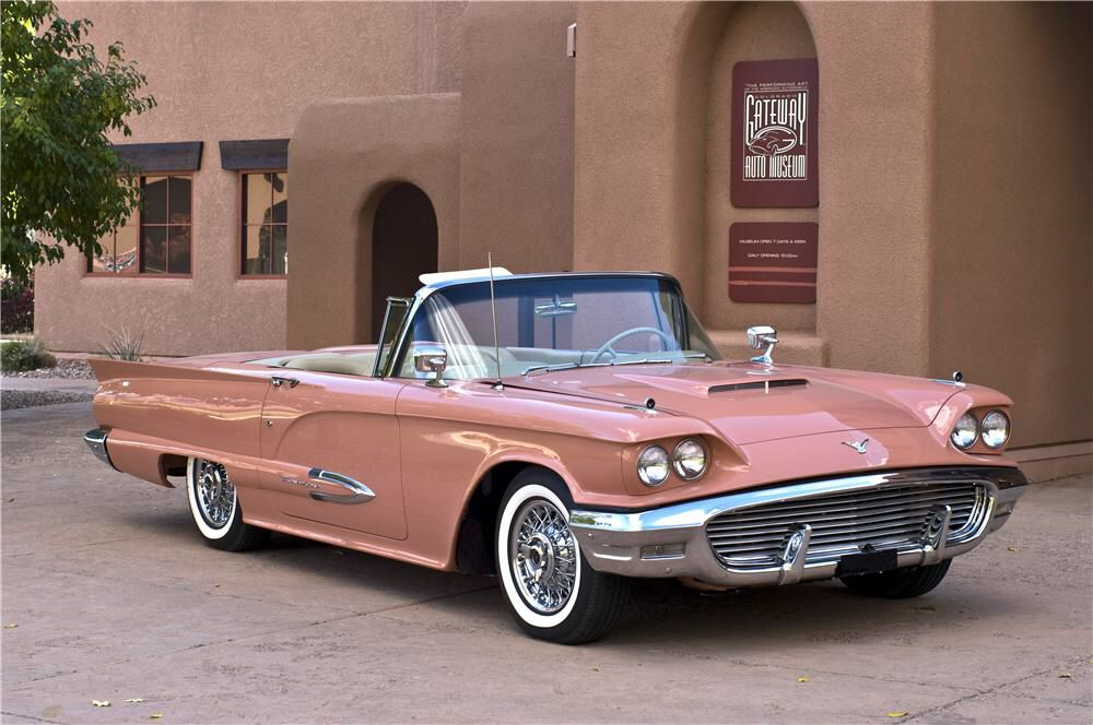 60s cars Muffy Bennetts 1959 Ford Thunderbird resto-mod formerly of the Gateway Classic Car Museum