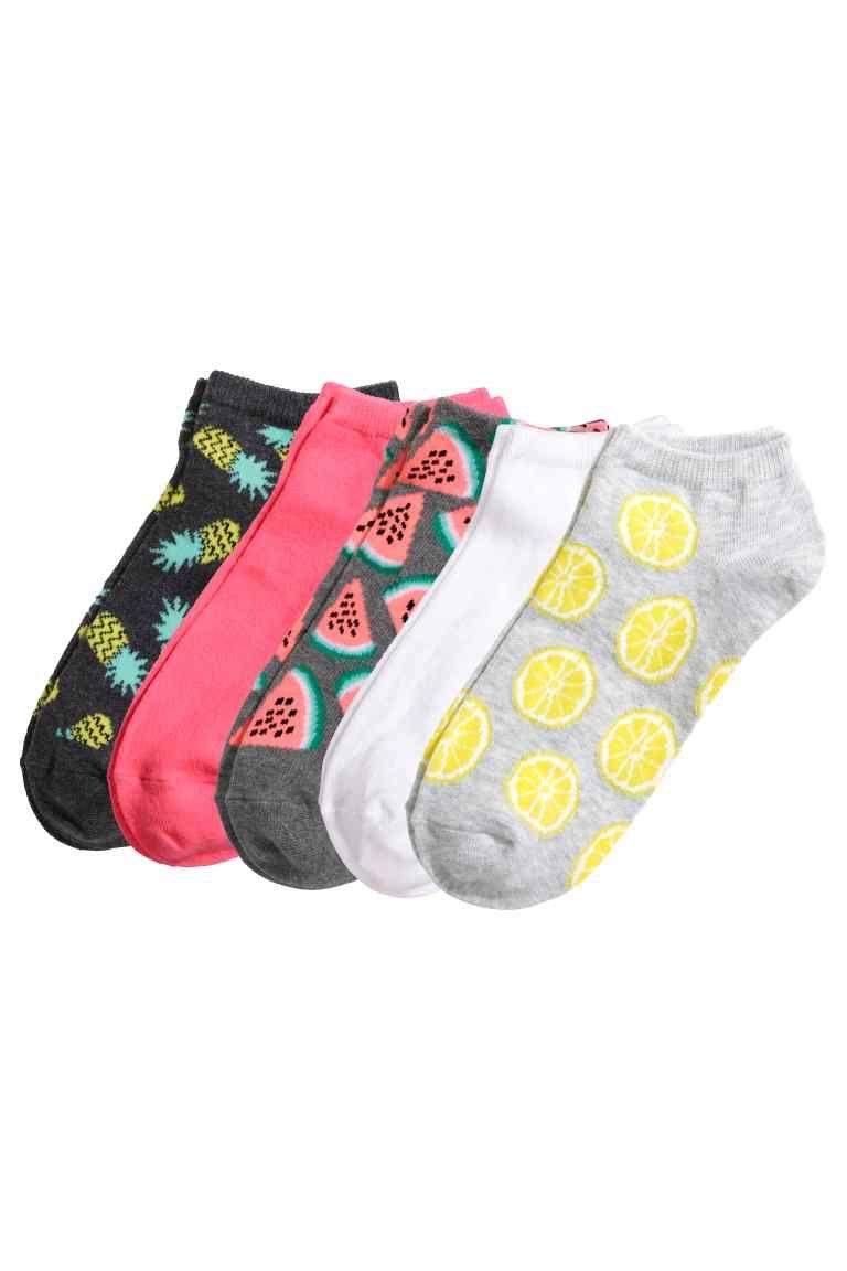 12ccdb4a92465 Lot de 5 paires de socquettes | H&M | Petons | Socquettes ...
